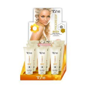 TAHE Progressif Day - Crema hidratante corporal Progressif (Con acido Hialurónico y partículas de oro)